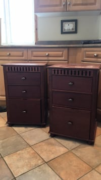 two brown wooden 2-drawer chests Whitchurch-Stouffville