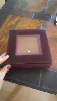 red wooden jewelry box