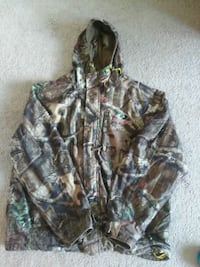 brown and green camouflage zip-up hoodie Springfield, 62707