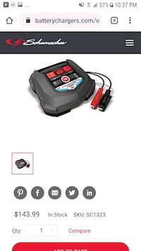 Schumacher battery charger used once