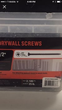 "Grip rite 2"" drywall screws 25lbs Tallahassee, 32304"