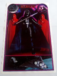 STAR WARS RETURN OF THE JEDI, DARTH VADER POSTER FROM 1983 RARE AND VINTAGE!! Toronto