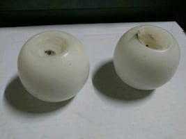 2 apple sized candles