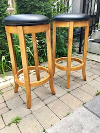 two brown wooden bar stools Whitby, L1N 6T5