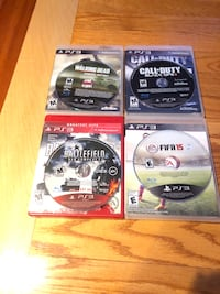Three assorted ps3 game cases Beltsville, 20705