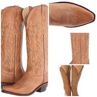 pair of brown leather cowboy boots Roswell, 88201