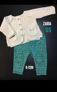 6-12m Elegant Zara Outfit in Excellent Condition Montréal, H4M 2K7