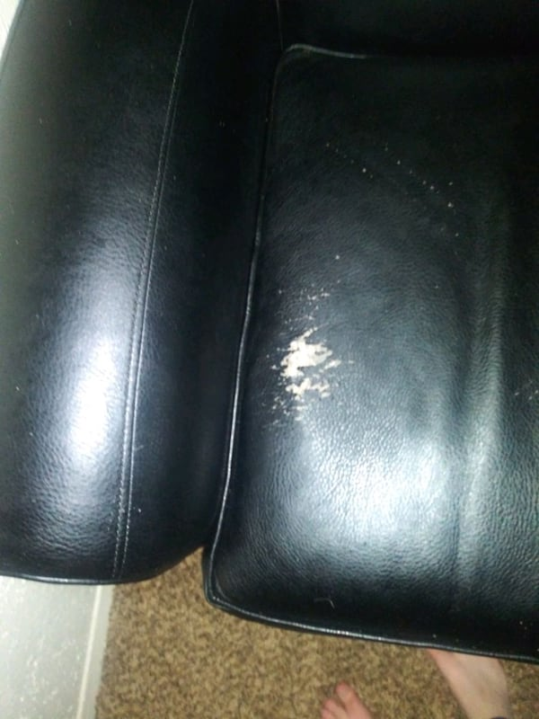 Faux Leather Loveseat 1