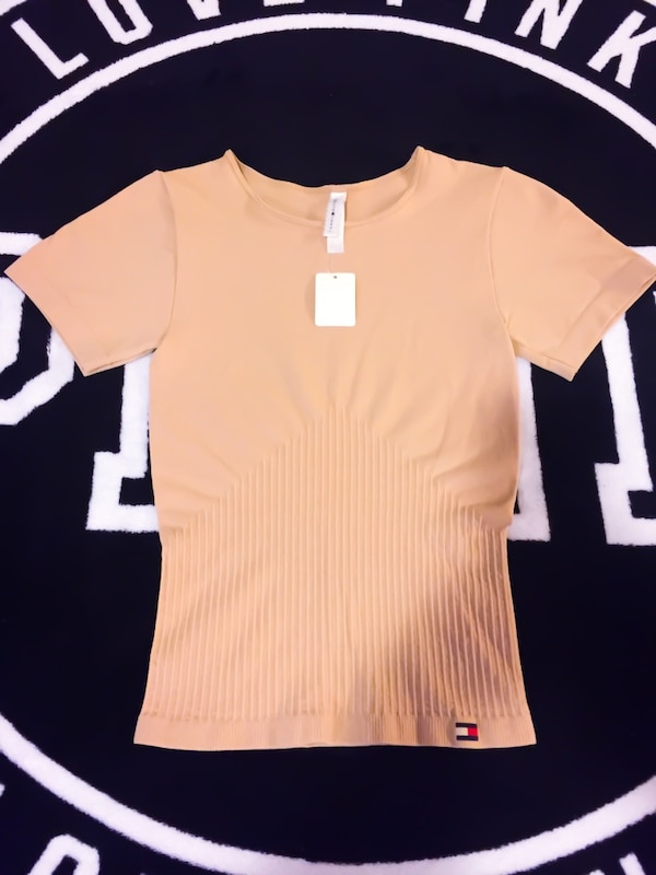 New! Tommy Hilfiger Nude Stretchy Shirt