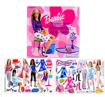 Brand New &Sealed~Vintage 2002 Barbie Magnetic Album & 40pcs- Toy/Game