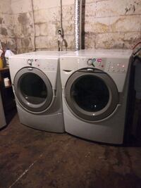 Washing machine gas dryer installed