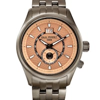 NEW Paul Perret 14101 Swiss Men's Multi-Textured Dial Watch Toronto