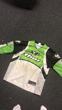 green and white Thor jersey shirt