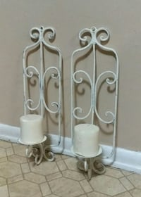 WROUGHT IRON/WALL SCONCES......EXCELLENT CONDITION Center Point