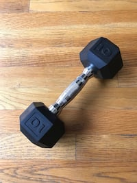 Dumbbell Weight - Cap Barbell Workouts Coated Hex Dumbbell, Black, 10 lb. Columbus, 43215