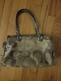 gray and black Coach monogram tote bag Flemington, 08822