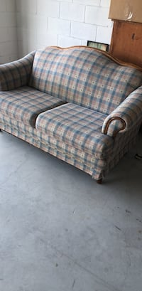 gray and blue plaid 3-seat sofa DeLand, 32724