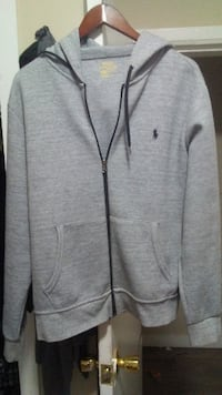 gray and black zip-up hoodie Winnipeg