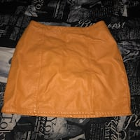 mustard yellow faux leather forever 21 skirt Wesley Chapel, 33544