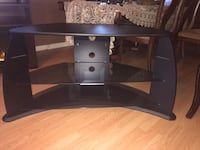 black glass TV stand with mount Edmonton