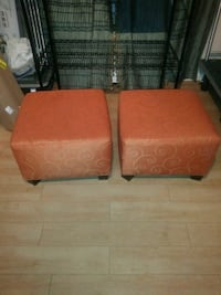 two orange-and-white padded chairs Marlow Heights, 20748