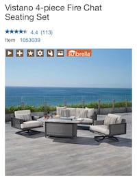 4 pc outdoor furniture!