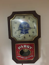 14 x 8 1/2 Motorized pendulum PBR wall clock Minneapolis, 55414
