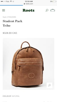 Roots genuine leather backpack Toronto, M1E 1E3