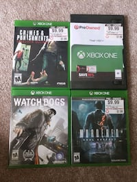4 Xbox One Games Alexandria, 22312