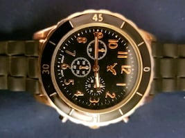 Mens American Eagle black and Gold tone watch