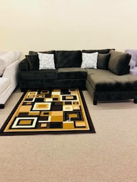 brown and black sectional couch Houston, 77092