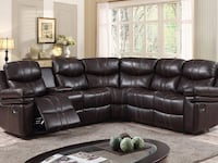 6 pcs Beautiful Air Leather Sectional Hamilton