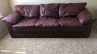 Brown leather 3-seat sofa Kyle, 78640