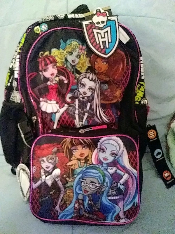 efff385ac1fd NEW! Monster High backpack with matching lunch box