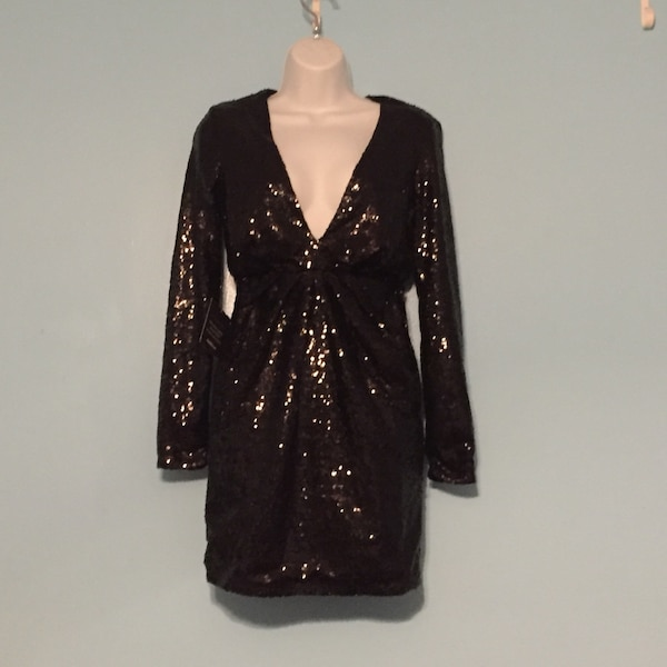 Sequin black dress, size small