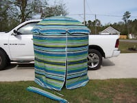 PORTABLE CABANA NEW BLUE STRIPE INCLUDES CARRY BAG (Stand not included) Hampstead