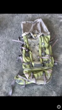 80l hiking backpack. used once. mec brand