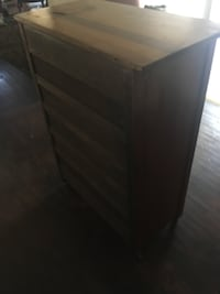 Five drawer wooden dresser  Wilmington