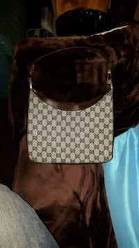 brown and white Gucci leather backpack Surrey, V3V 4S4