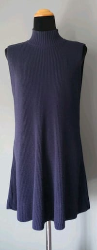 Cotton Emporium Sleeveless Turtleneck Knit Dress