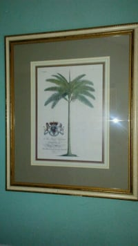 green leaf plant painting with brown wooden frame Chattanooga, 37404