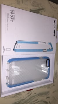 clear and blue Tech21 Evo Mesh Sport iPhone 6 and 6s  case with box,and is also new