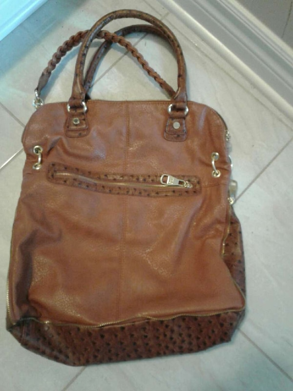 56605625a0b6 Used brown leather two way tote bag for sale in Ottawa - letgo