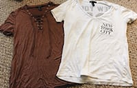 Two white and brown v-neck t-shirts Rehoboth Beach, 19971