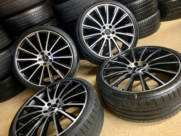 Mercedes Benz Rims >> 20 Inches Mercedes Benz Amg Rims Package With Brand New Continental Tires