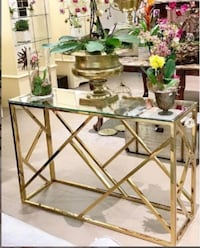 New Golden Console Table