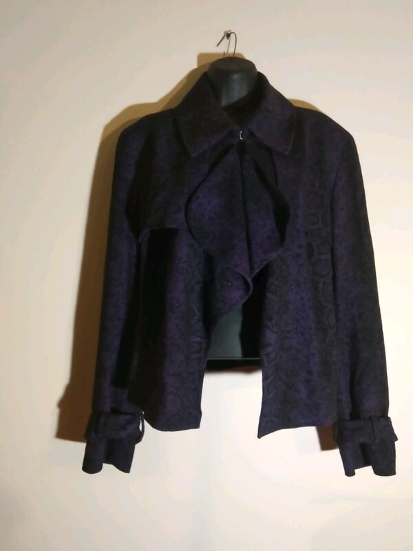 Women's size 16 Blazer purple black Anne Klein 9