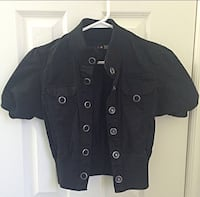 Black button shirt jacket Mississauga