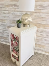 Vintage custom painted side table