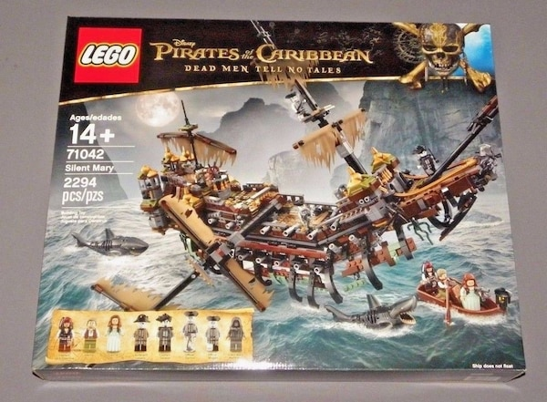 Used Pirates Of The Caribbean Lego Set 71042 Silent Mary Brand New